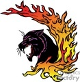 predator predators animal animals wild vector signage vinyl-ready vinyl ready cutter color cat cats panthers panther fire fires flaming flames flame tattoo tattoos design designs gif, png, jpg, eps