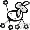 Cartoon Poodle Dog