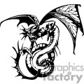 dragon dragons eps jpg png gif vector clipart images vinyl-ready vinyl ready cutter black white gif, png, jpg, eps