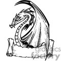 dragon with banner for wording