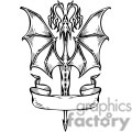 dragon flying icon with banner