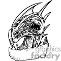 angry dragon tattoo design