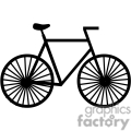 black and white bicycle profile