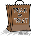 Trick or Treat halloween bag vector clip art image