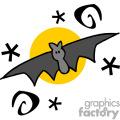 Whimsical Halloween bat