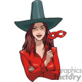 pretty lady in her halloween witch costume. gif, png, jpg, eps