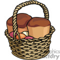basket of bread gif, png, eps