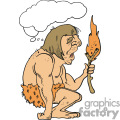 caveman amazed by fire gif, png, jpg, eps
