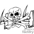 4x4 skull n cross bones graphic