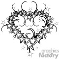 heart shaped stars design