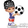 Small boy holding a soccer ball