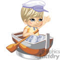 A little sailor boy in a row boat
