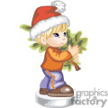 a little boy in a santa hat carrying a chrismas tree gif, png, jpg, eps