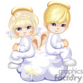 Two Blue Eyed Angels Sitting on a Cloud