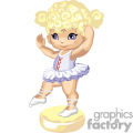 Blond haired little ballerina