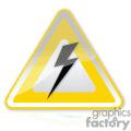 Yellow hazard sign