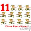 On the 11th day of Christmas my true love gave to me Eleven Pipers Piping