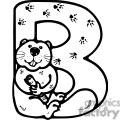 Letter B Beaver