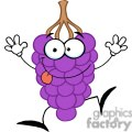 funny purple  grapes