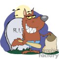 3219-smiled-werewolf-holding-club-and-bag-a-full-moon  gif, png, jpg, eps, svg, pdf