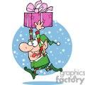 3335-Happy-Santas-Elf-Runs-With-Gift