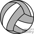 volleyball grey and white