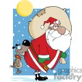 3859-Dog-Biting-A-African-American-Santa-Claus