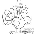 happy-holidays-greeting-with-turkey-cartoon-character  gif, png, jpg, eps, svg, pdf