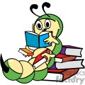 bookworm reading through a stack of books gif, png, jpg, eps, svg, pdf