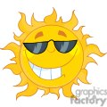 4039-Smiling-Sun-Mascot-Cartoon-Character-With-Sunglasses