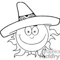 4057-smiling-sun-with-sombrero-hat  gif, png, jpg, eps, svg, pdf