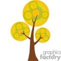 cartoon tree in the fall