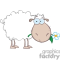 white cartoon sheep