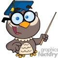 4299-owl-teacher-cartoon-character-with-graduate-cap-and-pointer  gif, png, jpg, eps, svg, pdf