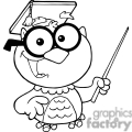 4298-Owl-Teacher-Cartoon-Character-With-Graduate-Cap-And-Pointer
