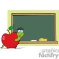 4271-Happy-Graduate-Worm-In-Apple-And-School-Chalk-Board