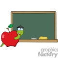 4270-Happy-Graduate-Worm-In-Apple-And-School-Chalk-Board