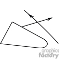 Black and white outline of a sine tool
