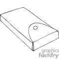 black and white outline of a pencil box gif, png, jpg, eps, svg, pdf