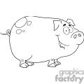 black and white farm pig gif, png, jpg, eps, svg, pdf