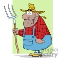 farmer with a pitchfork gif, png, jpg, eps, svg, pdf