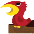 red cartoon angry bird character gif, png, jpg, eps, svg, pdf