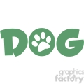 12812 rf clipart illustration dog green text with paw print  gif, png, jpg, eps, svg, pdf