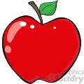 12925 RF Clipart Illustration Red Apple