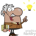 12826 RF Clipart Illustration African American Professor With An Idea