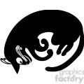 vector clip art illustration of black cat 012  gif, png, jpg, eps, svg, pdf
