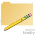 folder with pencil