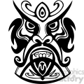 ancient tiki face masks clip art 013