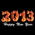 2013 flaming happy new year  gif, png, jpg, eps, svg, pdf