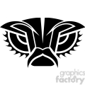 tribal masks vinyl ready art 022